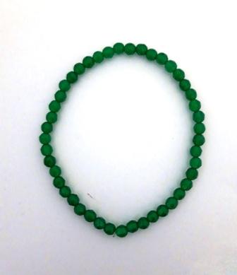 Pulsera bola agata verde