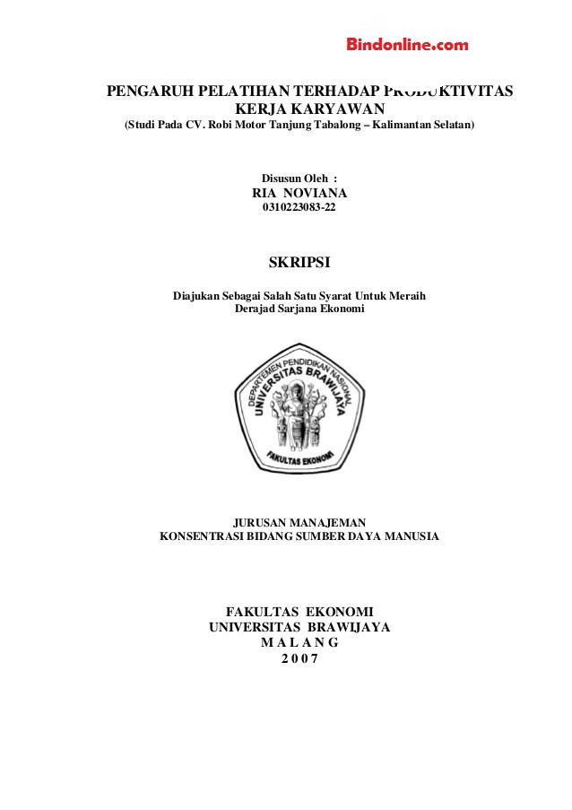 Tesis Manajemen Sdm : tesis, manajemen, Judul, Skripsi, Manajemen, Terbaru