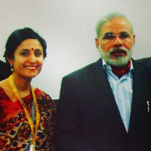 Bindu Dadlani meets PM Narendra Modi in Vibrant Gujarat 2011