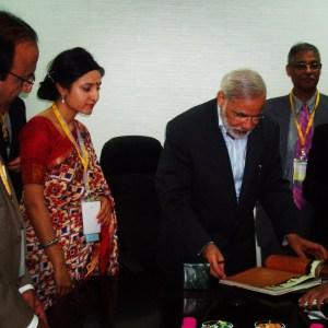 Bindu Dadlani in Gujarat with PM Narendra Modi