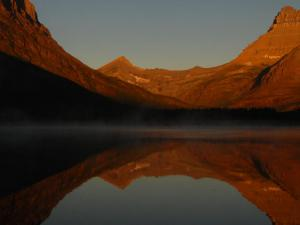 Swiftcurrent Lake is the centerpiece of Many Glacier.