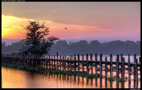 U-Bien bridge at Dawn, Myanmar