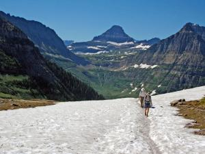 Highline Trail often retains snow well into July.