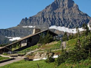Logan Pass Visitor Center and Mt. Reynolds