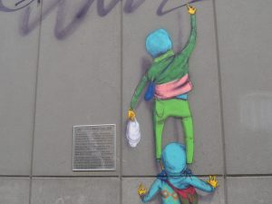 Street art by Os Gemeos, Boston
