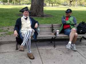 Even Patriots need a smoke break, Boston Common