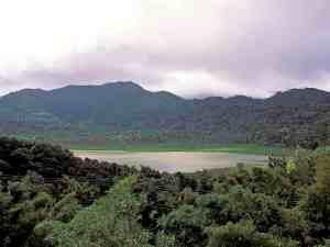 Grand Etang Lake in Grand Etang National Park and Forest Reserve Grenada Caribbean