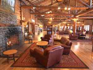 Lake Lodge lobby in Yellowstone