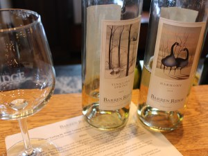 Barren Ridge Vineyards at the Tasting Bar