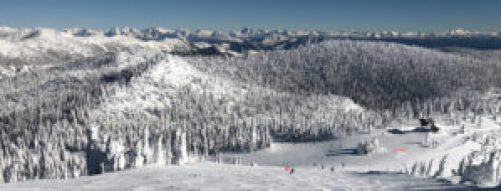 Big Mountain, Glacier in winter
