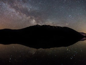 You can do night sky viewing in Apgar of the skies above Lake McDonald.