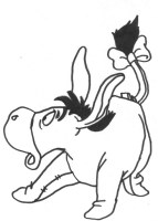 Malvorlagen Iah Winnie Pooh   Kinder zeichnen und ausmalen