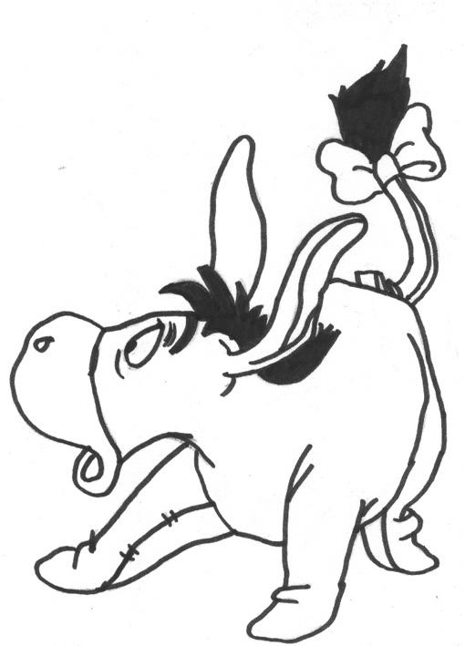 Malvorlagen Iah Winnie Pooh - Kinder zeichnen und ausmalen