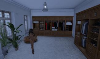 Naked Girl in the Dressing Room