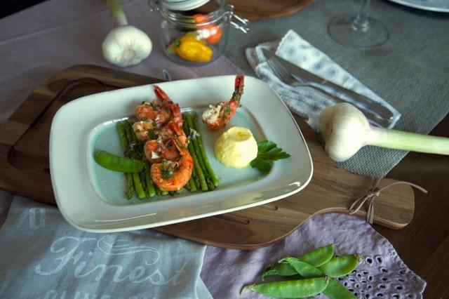 Ceviche von der Garnele mit Ananas Panna Cotta – 42