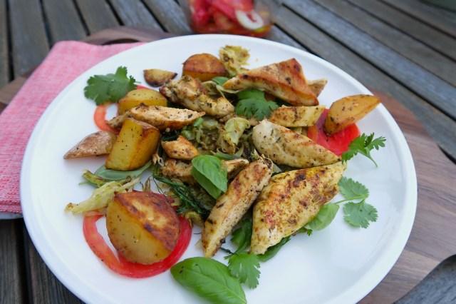 Hühnerbrust mit Fenchelsalat und Orangendressing – 07
