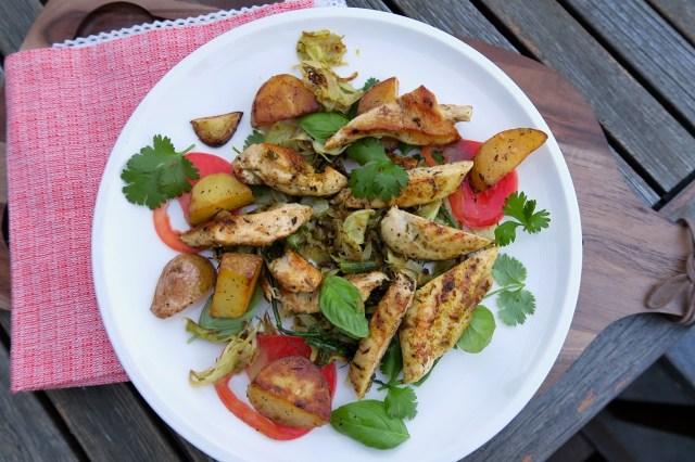 Hühnerbrust mit Fenchelsalat und Orangendressing – 08