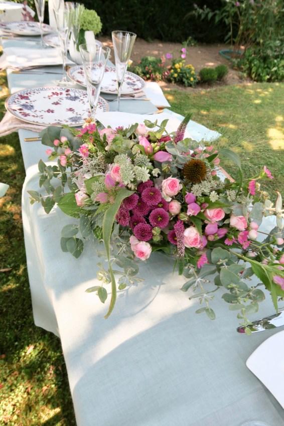 Gartenparty, Tischdekoration Gartenfest