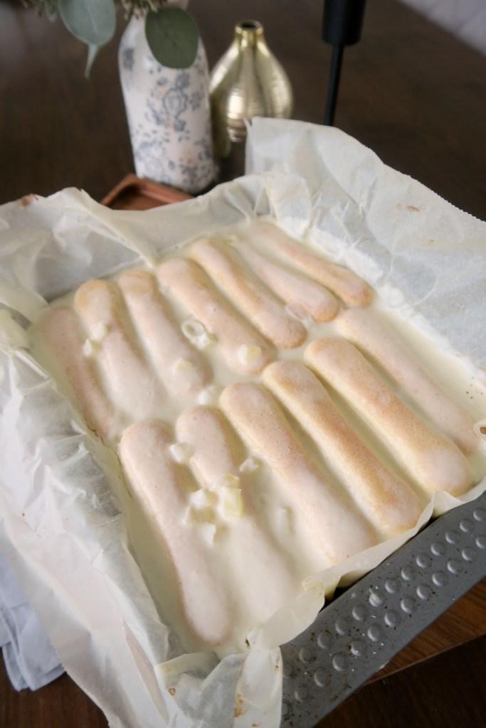 Apfelmus Joghurtschnitte