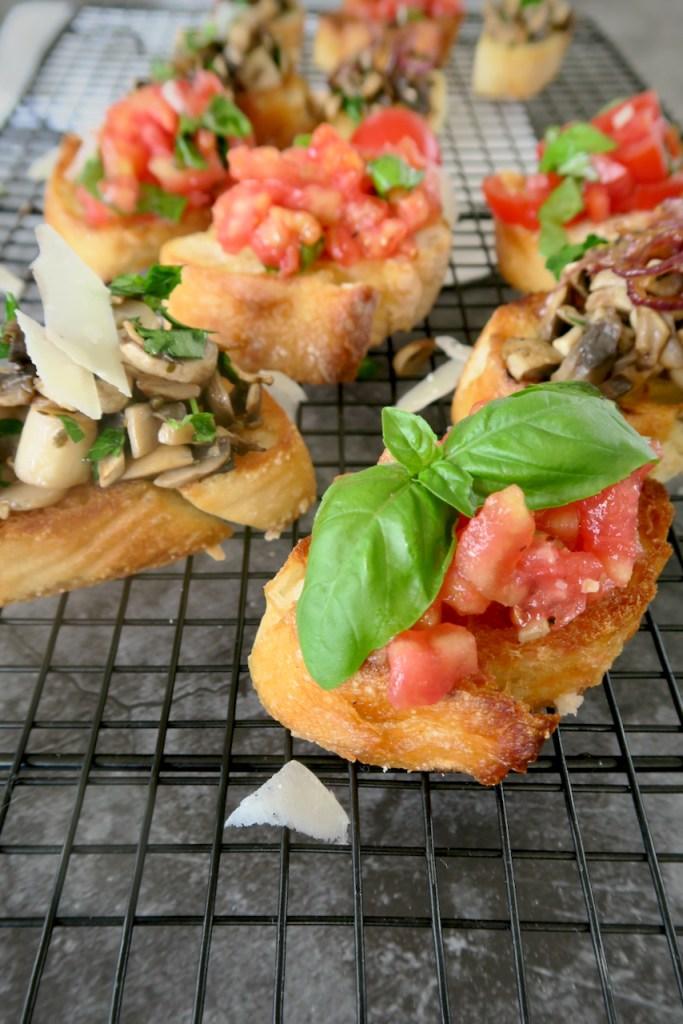 Bruschetta mit Tomaten & Pilzen