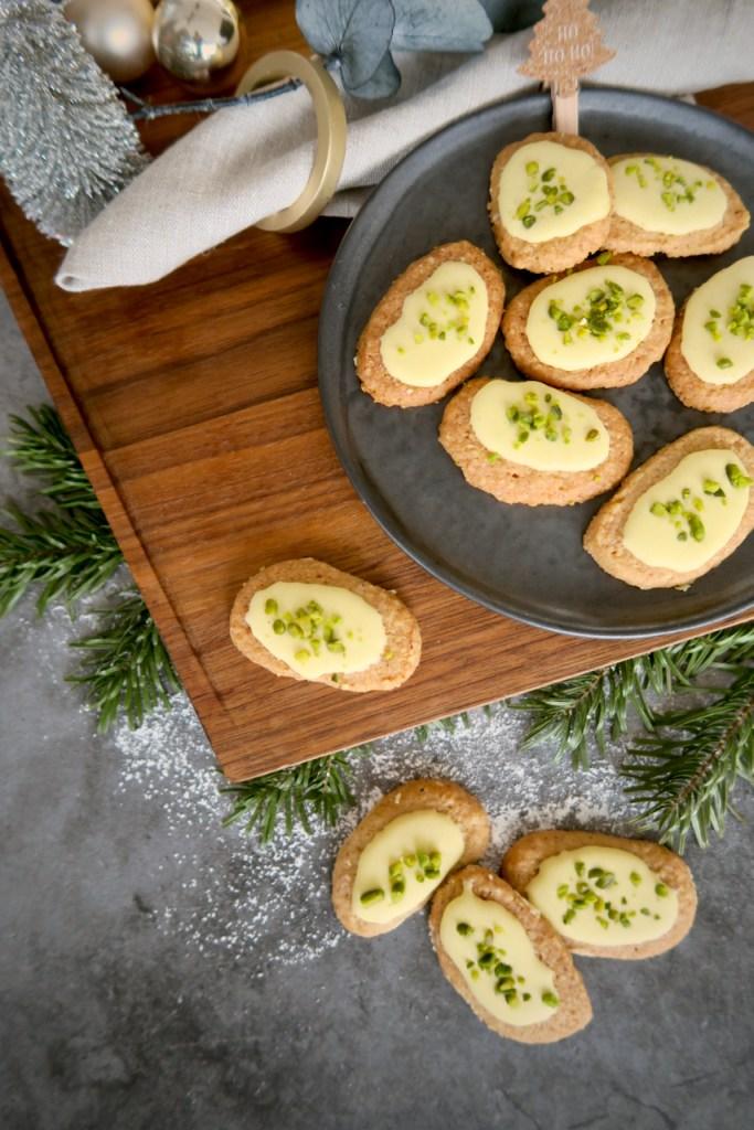 Butterbrot Kekse mit Pistazien