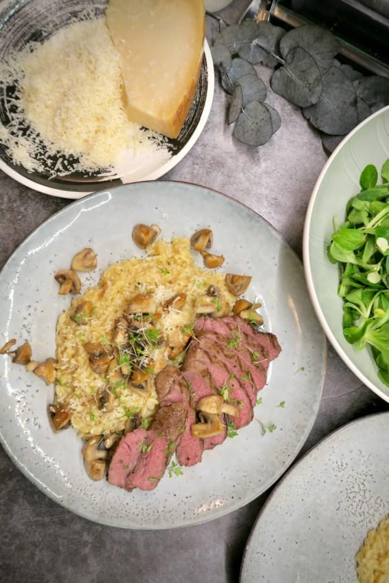 Pastasotto mit Champignons