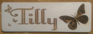 Child's Room Name Plate £5.00
