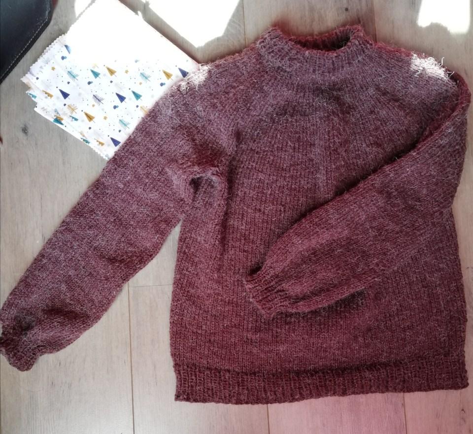 novice sweater tricot