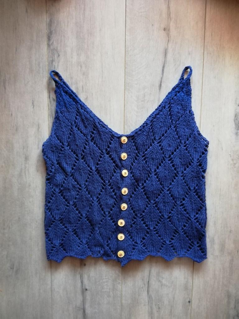 Leaf Top au tricot