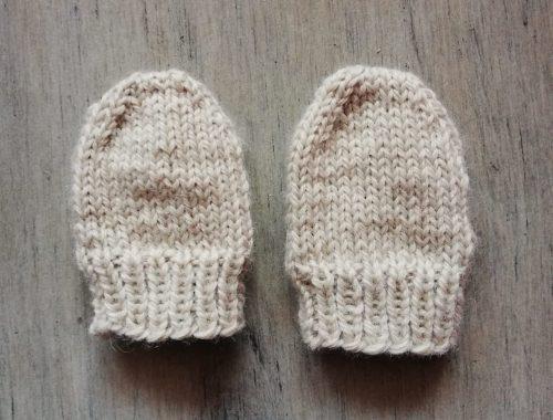 mini moufles tricot