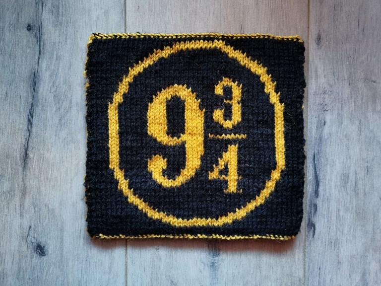 carré Harry Potter tricot