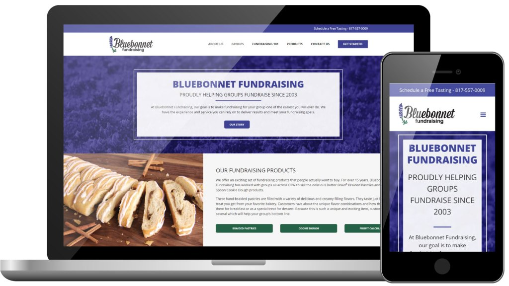Bluebonnet Fundraising | Business Website Development | Digital Marketing | Bingham Design
