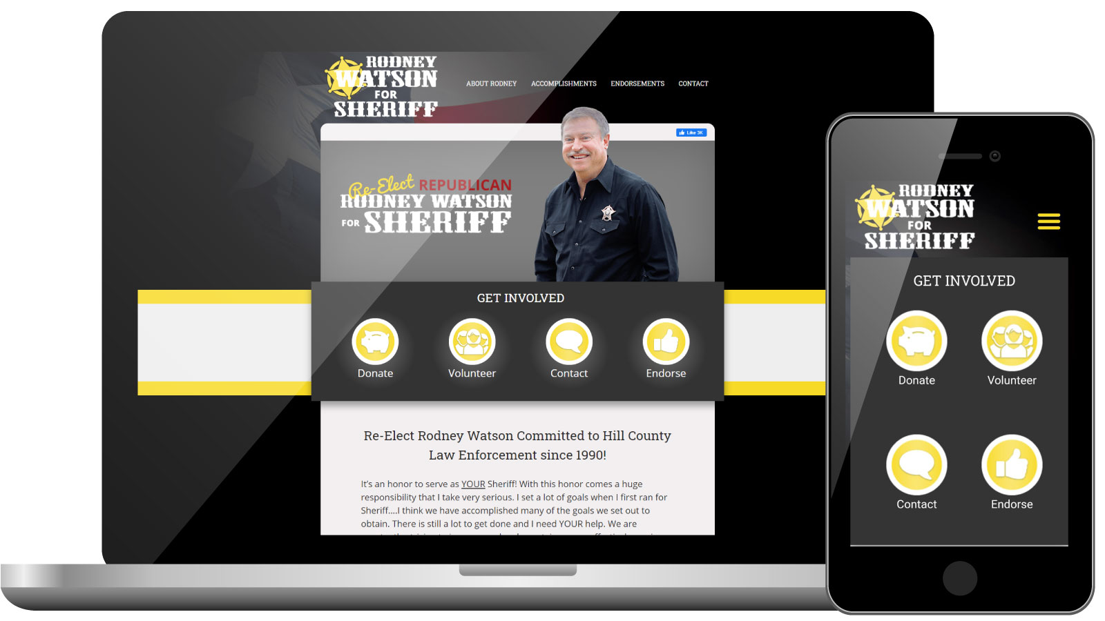Republican Sheriff Candidate Website | Rodney Watson for Sheriff