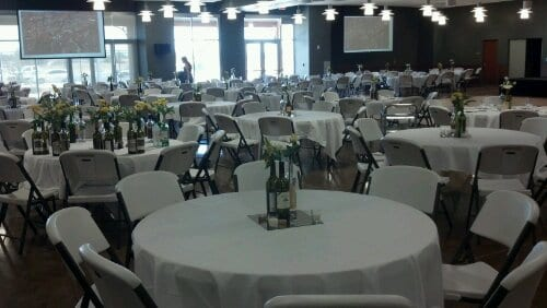 Preparations for High Plains Winegrowers Gala tonight