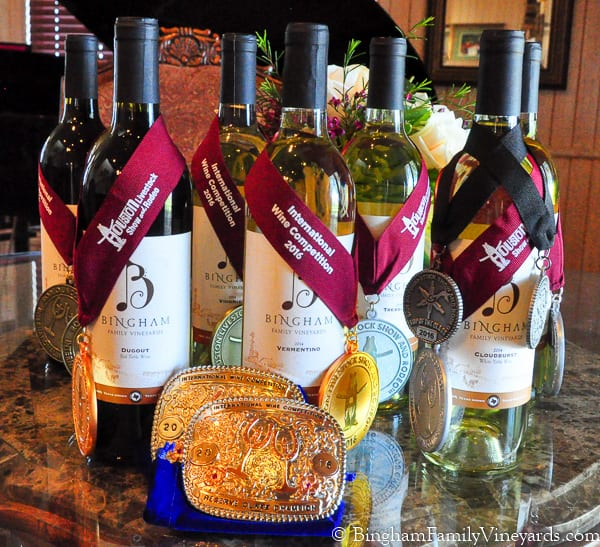 Bingham Family Vineyards award winning wines