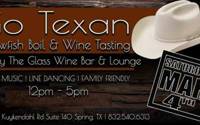 Go Texan – Crawfish Boil and Wine Tasting, Spring, Texas