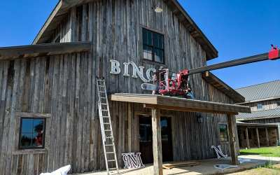 Our Fredericksburg sign is being installed  today!