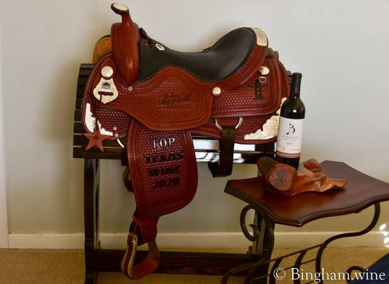 2020 Best Texas Wine Award Saddle