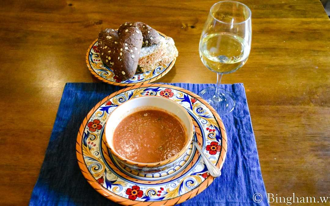Easy Tomato Gazpacho with 2019 Vermentino