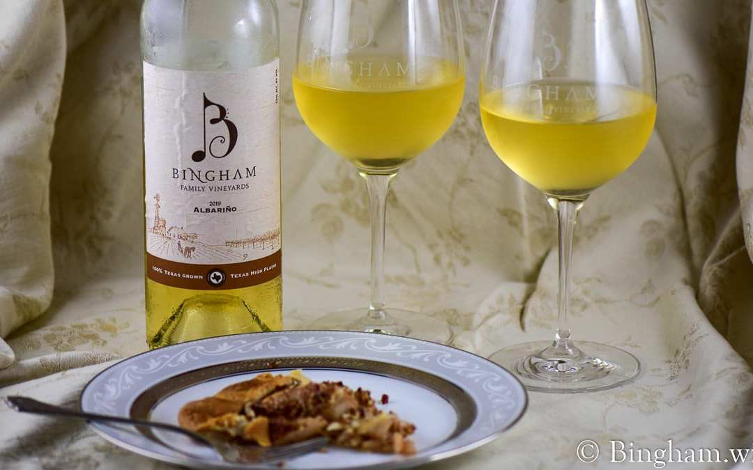 Pear Pecan Spice Galette paired with Bingham 2019 Albariño