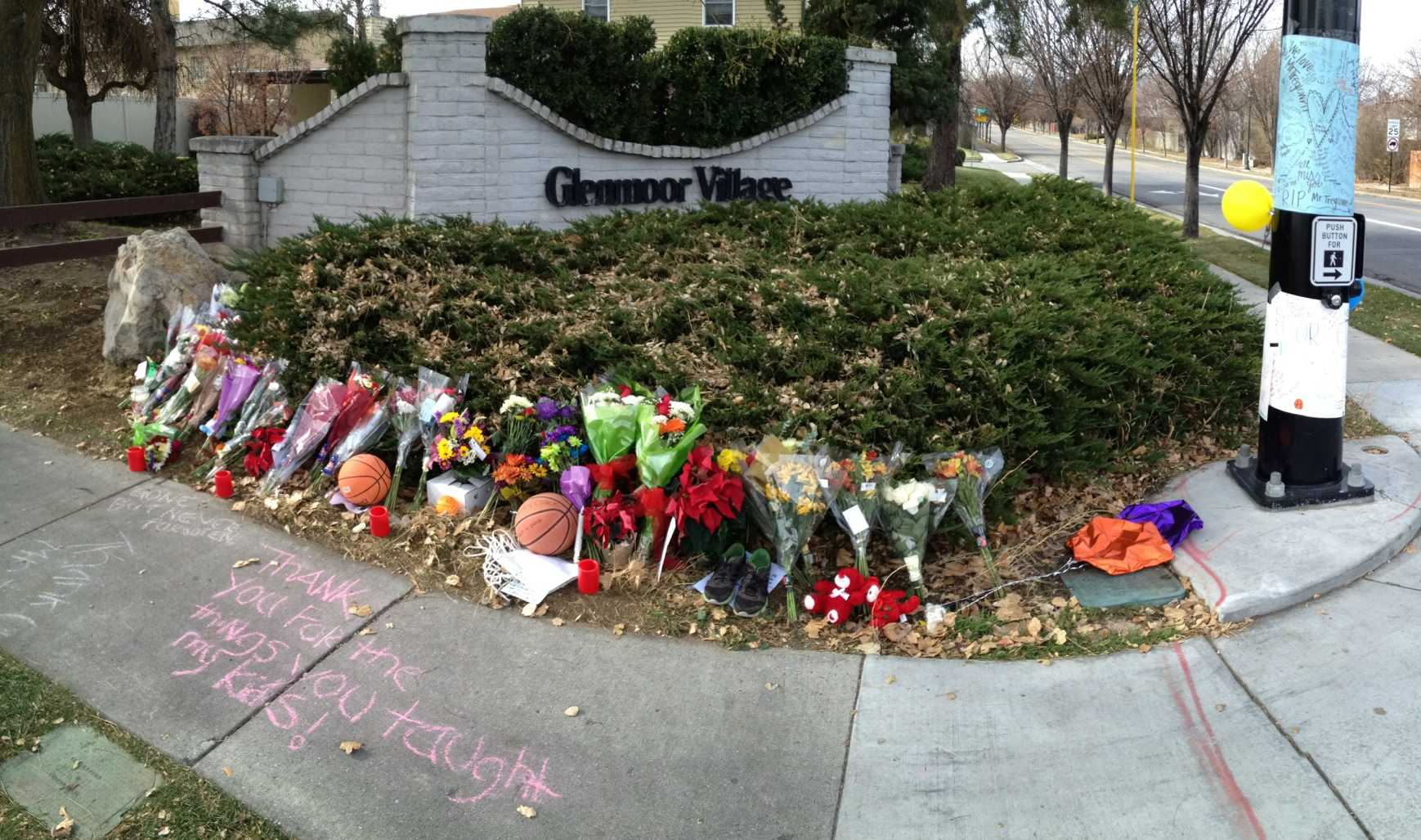 Randy Treglown's memorial at 4000 West and 9800 South.