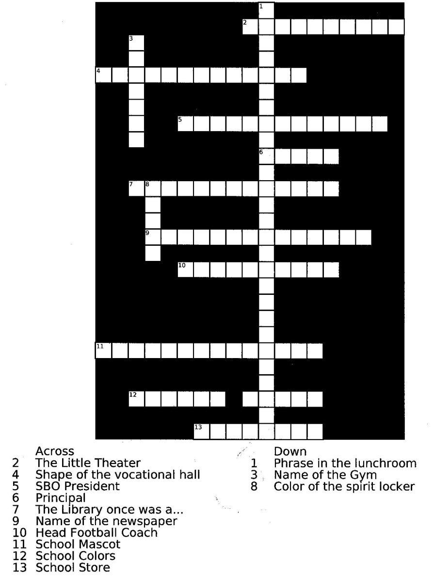 January 2013 Crossword Puzzle