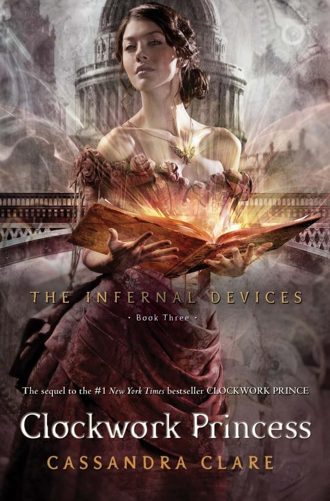 The cover of Cassandra Clare's newest book, Clockwork Princess