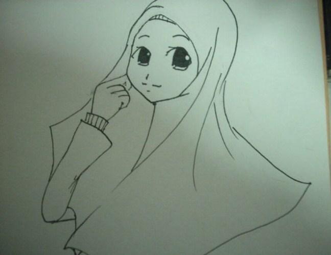 Kartun Pengantin Muslimah