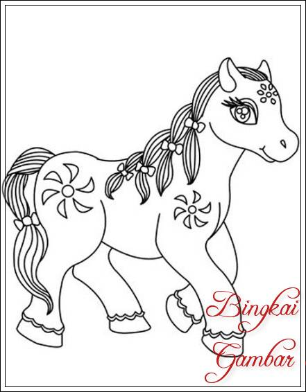 Sketsa Gambar Kuda Poni : sketsa, gambar, Contoh, Gambar, Sketsa, Bingkaigambar.com