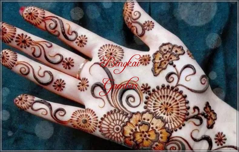 Contoh Gambar Henna Tangan Sederhana