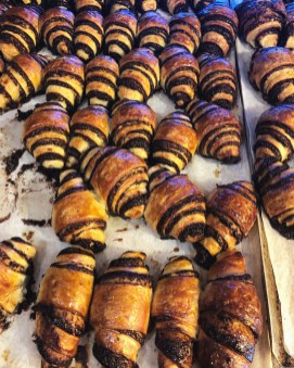 Freshly baked rugelach in Israel