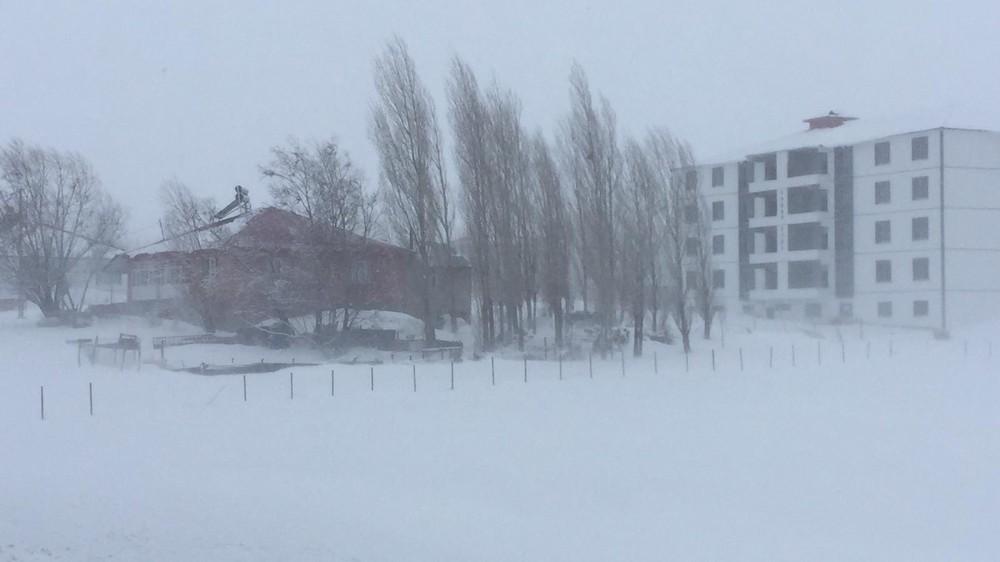 Bingöl'de kar ve tipi nedeniyle Karlıova'da okullar tatil edildi