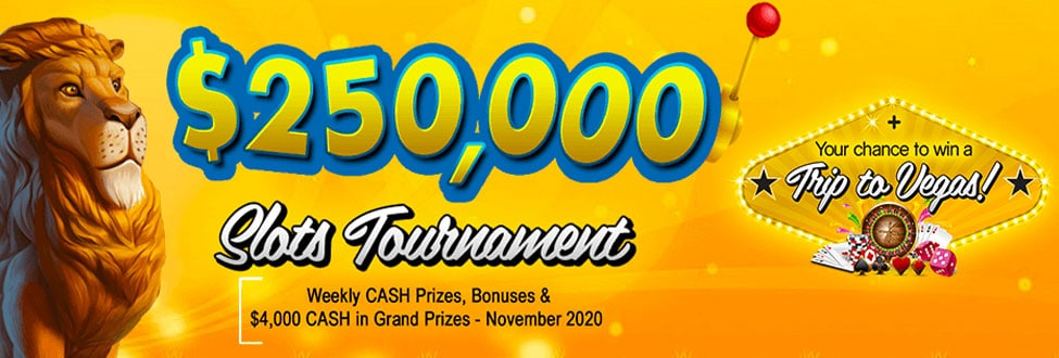 $250,000 in daily cash jackpots this November!