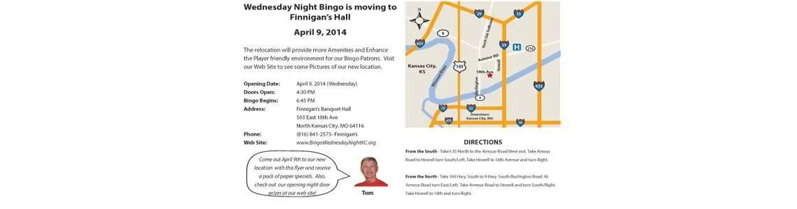 bingo door prize flyer